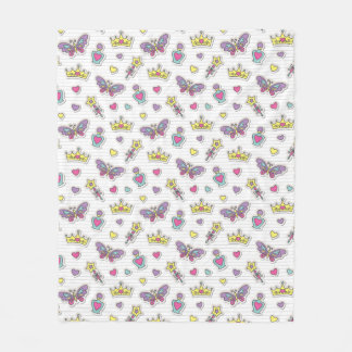 ballet princess pattern fleece blanket