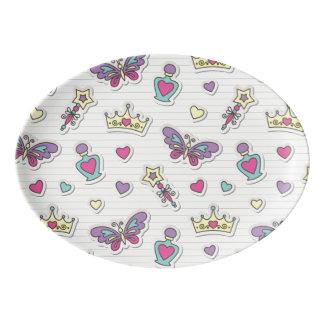 ballet princess pattern porcelain serving platter