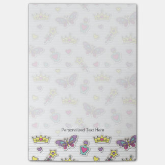 ballet princess pattern post-it notes