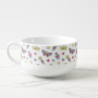 ballet princess pattern soup mug