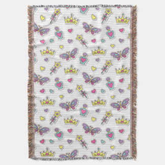 ballet princess pattern throw blanket