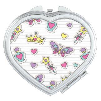 ballet princess pattern travel mirrors