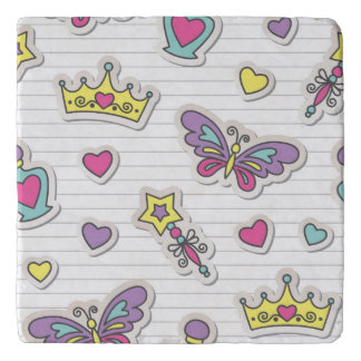 ballet princess pattern trivet