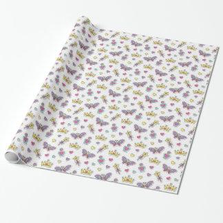 ballet princess pattern wrapping paper