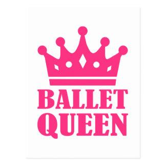 Ballet Queen crown Postcard