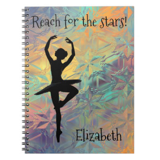 Ballet Reach for the Stars Custom Notebook
