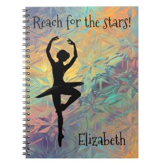 Ballet Reach for the Stars Custom Notebooks