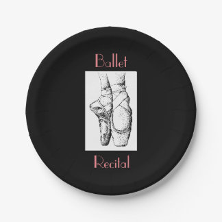 Ballet Recital Paper Plates