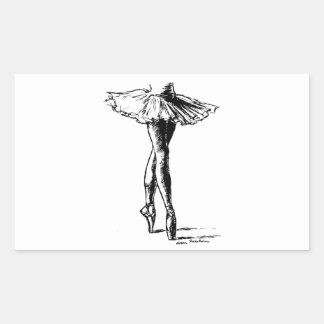 Ballet Rectangular Sticker