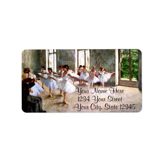 Ballet Rehearsal Address Labels