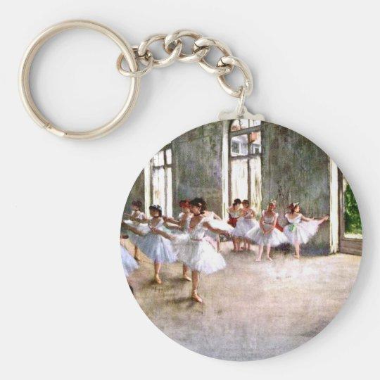 Ballet Rehearsal Basic Round Button Key Ring