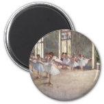 Ballet Rehearsal by Degas 6 Cm Round Magnet