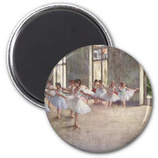 Ballet Rehearsal by Degas 6 Cm Round Magnet