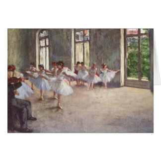 Ballet Rehearsal by Degas Card