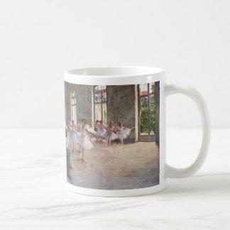 Ballet Rehearsal by Degas Basic White Mug