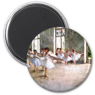 Ballet Rehearsal 6 Cm Round Magnet