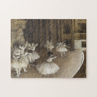 Ballet Rehearsal On Stage by Edgar Degas Jigsaw Puzzle