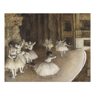 Ballet Rehearsal On Stage by Edgar Degas Photo Print