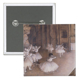 Ballet Rehearsal on the Stage, 1874 15 Cm Square Badge