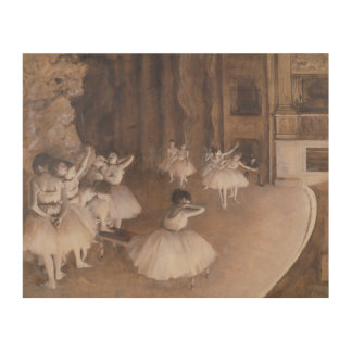 Ballet Rehearsal on the Stage, 1874 2 Wood Canvas