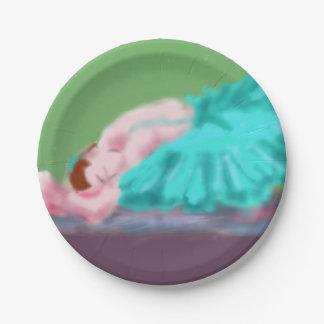Ballet Resting Art Paper Plate
