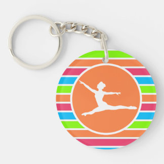 Ballet; Retro Neon Rainbow Keychain