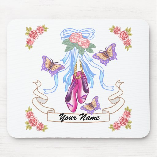Ballet Roses Custom Name Mouse Pad