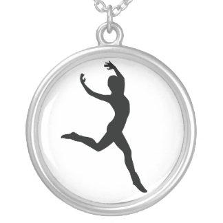 Ballet Round Pendant Necklace