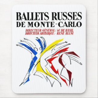 Ballet Russes Dance Poster - Retro Abstract Dancer Mouse Pad