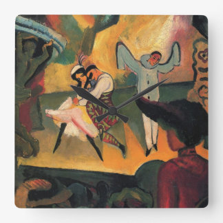 Ballet Russes, Russian Ballet by August Macke Square Wall Clock
