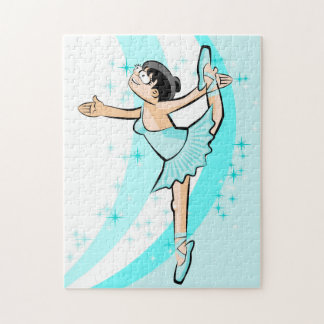 Ballet shoe of Ballet dancing majestically Jigsaw Puzzle
