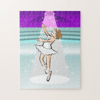 Ballet shoe of Ballet dancing under stars Jigsaw Puzzle