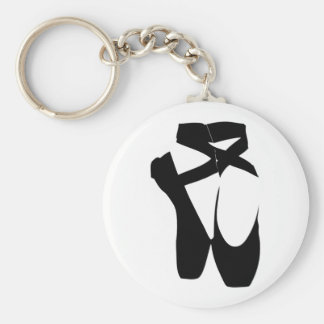 Ballet Shoes Basic Round Button Key Ring