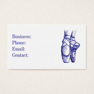 Ballet Shoes Blue Business Card