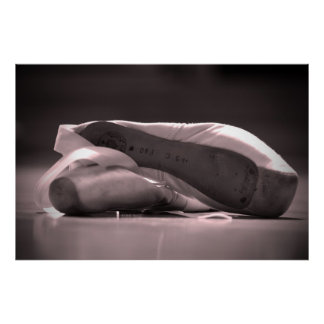 Ballet Shoes Canvas Poster
