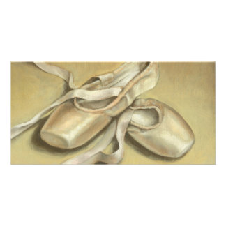 Ballet shoes personalised photo card