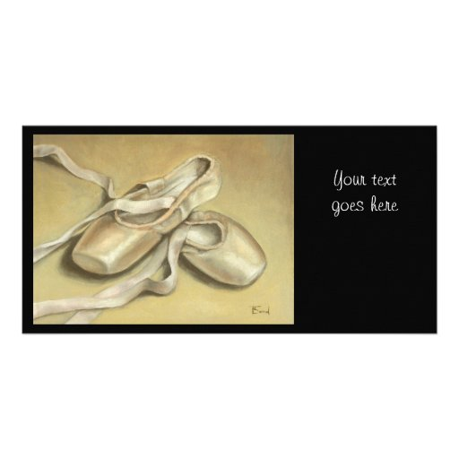 Ballet shoes customized photo card