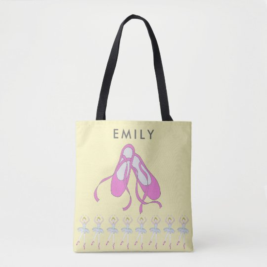Ballet Shoes Tote Bag, personalised