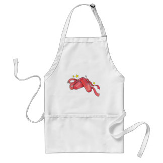 Ballet Shoes with Ribbons and Stars Standard Apron