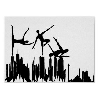 Ballet Skyline Poster