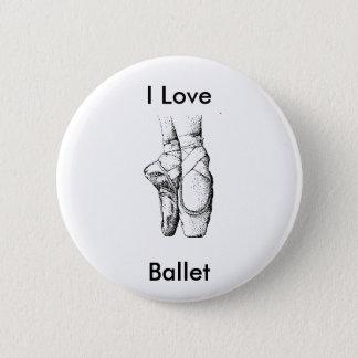 Ballet Slippers 6 Cm Round Badge