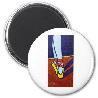Ballet Slippers 6 Cm Round Magnet