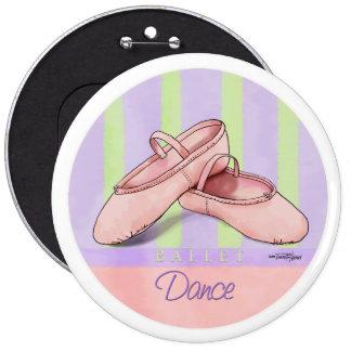 Ballet Slippers Dance recital button
