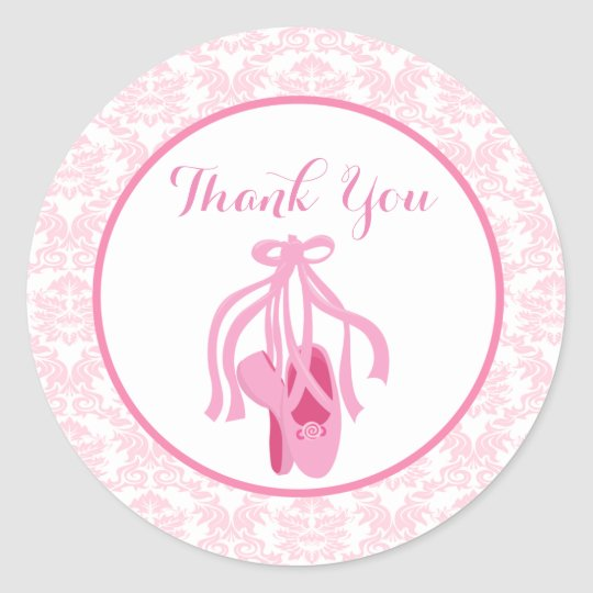 Ballet Slippers Favour Stickers