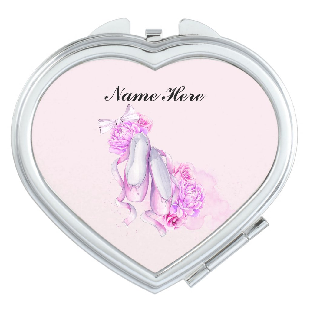 Ballet Slippers Compact Mirror