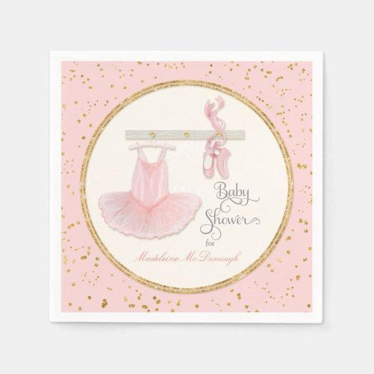Ballet Slippers n Tutu Little Girl Baby Shower