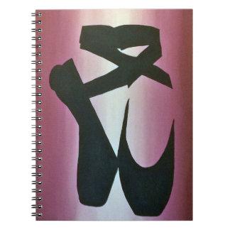 Ballet Slippers Spiral Notebook