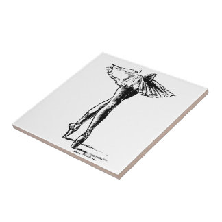 Ballet Small Square Tile