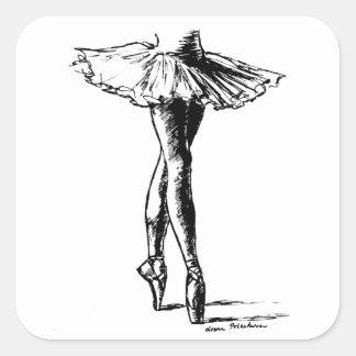 Ballet Square Sticker