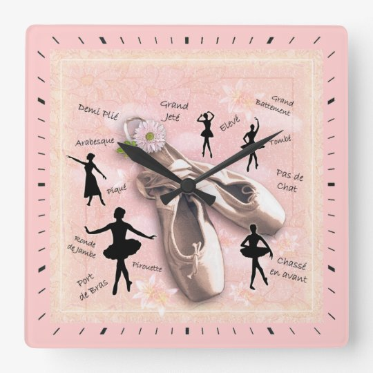 Ballet Square Wall Clock